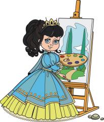 dziewczynka z paletą